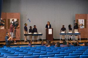 Savannah Guthrie moderates a debate